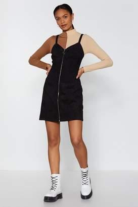 Nasty Gal Zip the Nail On the Head Corduroy Mini Dress