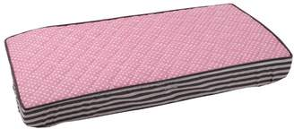 Bacati Elephants Pink/Grey pink pin dots Changing Pad Cover