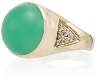 Jacquie Aiche 14kt gold diamond signet ring