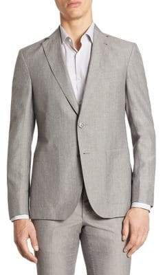 Saks Fifth Avenue MODERN Wool& Linen Suit Jacket