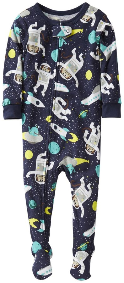 Carter's 1 Piece Cotton Printed Footie (Baby) - Outer Space-12 Months