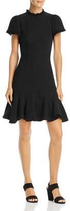 Rebecca Taylor Ruffled Tweed Dress
