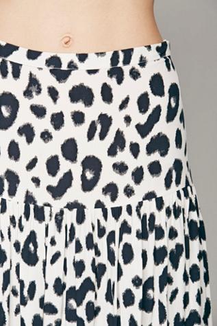 Free People Spell Lovely Spot Split Maxi Skirt
