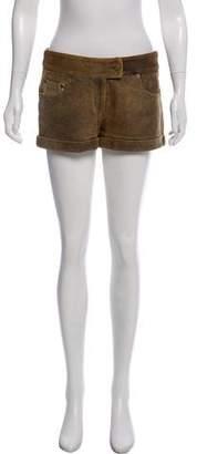 Foley + Corinna Leather Mini Shorts