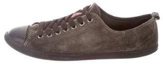 Prada Sport Cap-Toe Low-Top Sneakers