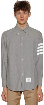 Thom Browne Printed Straight Chambray Cotton Shirt