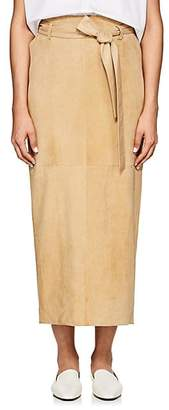 The Row Women's Arun Belted Suede Skirt - Roan Yellow