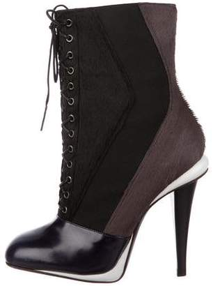 Fendi Lace-Up Ankle Boots