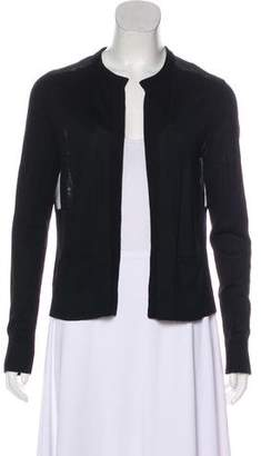 Halston Long Sleeve Open Front Cardigan