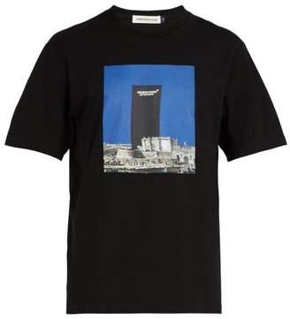 Undercover Ancient City Print Cotton T Shirt - Mens - Black