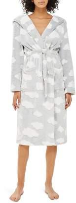 Topshop Cloud Print Longline Fleece Robe
