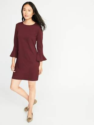 Old Navy Ponte-Knit Flute-Sleeve Shift Dress for Women