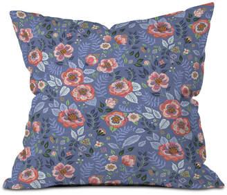 Deny Designs Pimlada Phuapradit Shrub Roses Throw Pillow