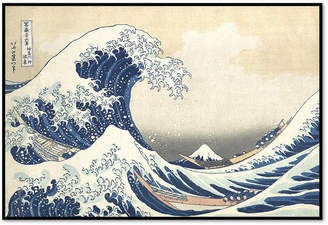 The Great Museums.Co Wave off Kanagawa by Katsushika Hokusai Art Print