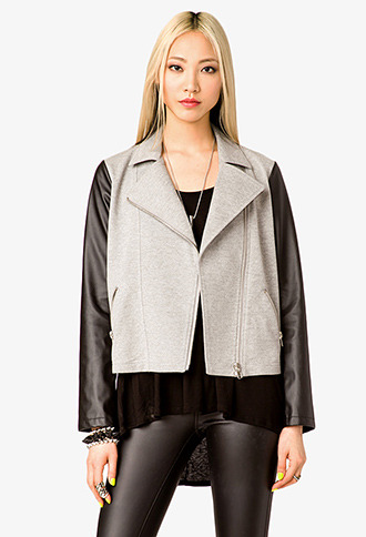 Forever 21 Cool Combo Moto Jacket