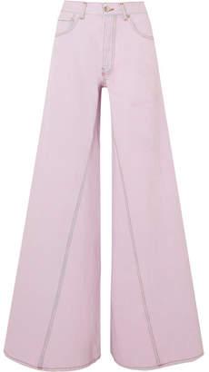 Ganni Paneled Jeans - Pink