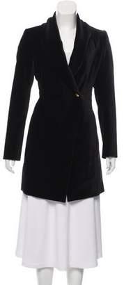 Alice + Olivia Vance Velvet Coat