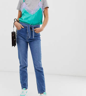 See You Never tie waist skinny jeans