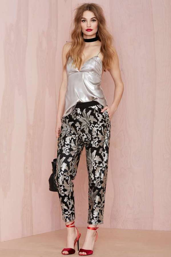 Joa Shine On Sequin Trousers