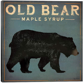 iCanvas Icanvasart Old Bear Maple Syrup Canvas Art Print