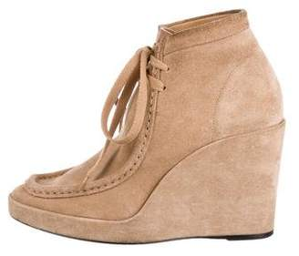 Balenciaga Suede Wedge Booties