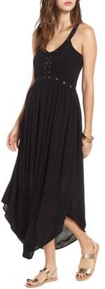 Women's Sun & Shadow Grommet Detail Maxi Dress $59 thestylecure.com