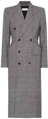 Balenciaga Checked virgin wool coat