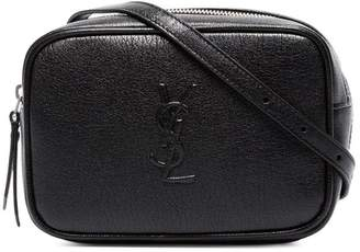 Saint Laurent Black Lou leather belt bag