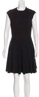 Alexander McQueen Silk & Wool Knit Dress
