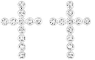 Carriere JEWELRY Diamond Cross Stud Earrings