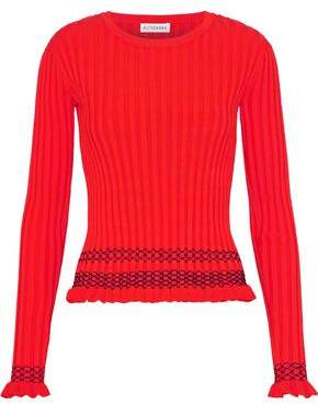 Altuzarra Malou Embroidered Ribbed-knit Sweater