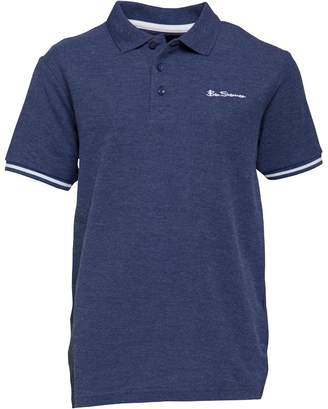 Ben Sherman Junior Boys Core Marl Polo Indigo Marl