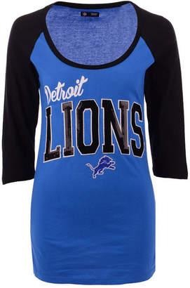 5th   Ocean Women Detroit Lions Colorblocked Raglan T-Shirt 985542e03