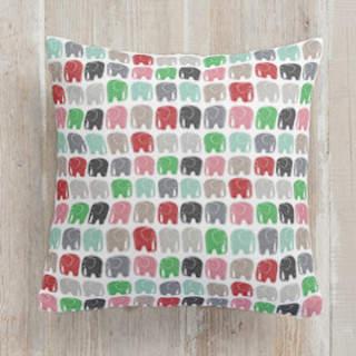 Elephant Parade Square Pillow