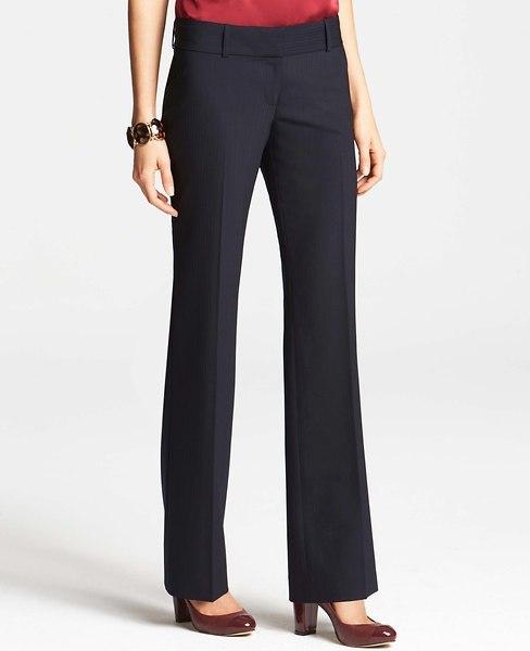 Ann Taylor Tall Modern Tropical Wool Pinstripe Trousers