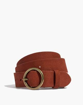 Madewell Suede Circle Buckle Belt