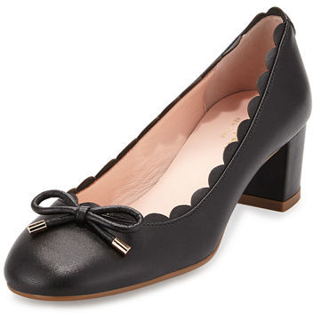 Kate Spade New York Yasmin Scalloped Leather Pump