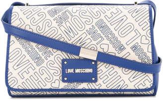 Love Moschino logo print shoulder bag