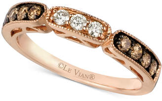 Le Vian Chocolate and White Diamond Band in 14k Rose Gold (3/8 ct. t.w.) $1,400 thestylecure.com