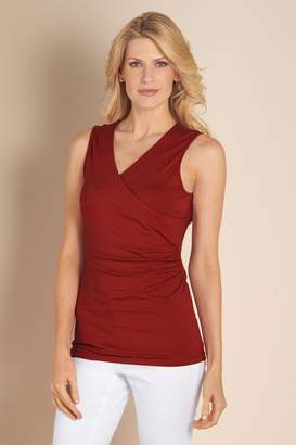 Soft Surroundings Women Shapely Surplice Tank I