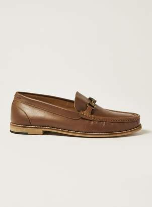Topman Tan Leather 'Averly' Snaffle Loafers