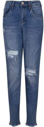 Dorothy Perkins Womens *Girls On Film Navy Mid Wash Relaxed Fit Jeans