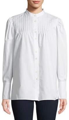 Diane von Furstenberg Pintuck Button-Down Shirt