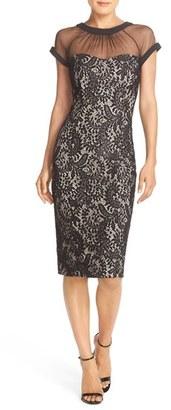 Maggy London Illusion Yoke Lace Sheath Dress $148 thestylecure.com