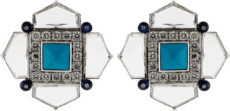 Arunashi Turquoise Sapphire And Diamond Earrings