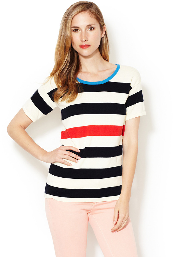Trovata Bold Stripe Crewneck Sweater