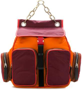 Marni colour-block backpack
