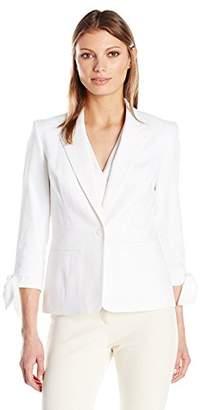 Nine West Women's 1 Button Linen Jacket