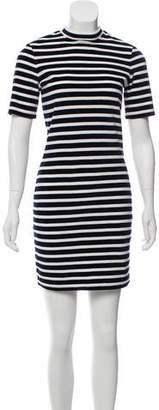 Alexander Wang Velvet Striped Short Sleeve Mini Dress w/ Tags