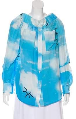 Natasha Zinko Printed Silk Top w/ Tags